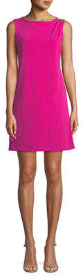 Donna Ricco Wrapped Matte-Jersey Mini Dress