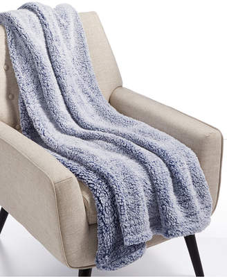 Martha Stewart Collection Sherpa Throw Blanket, Created for Macy's