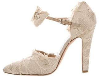 Chanel Lace Bow-Accented Pumps