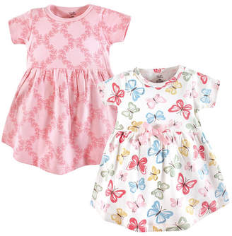 Baby Vision Touched by Nature Baby Girl Organic Cotton Dress, Short Sleeve 2-Pack, 0 Months - 5T