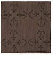 Simonnot Godard Men's Anchor-Print Cashmere-Blend Jacquard Pocket Square - Brown