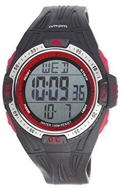 Am.pm. Am : Pm pc169-g413メンズ多機能スポーツダイビング腕時計オレンジ&ブラックストップウォッチ&デュアル時間