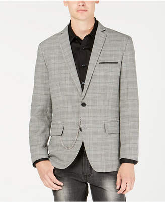 INC International Concepts I.n.c. Men's Slim-Fit Glen Plaid Blazer, Created for Macy's