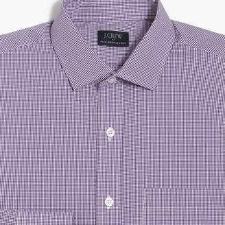 J.Crew Factory Slim-fit flex wrinkle-free shirt in mini gingham