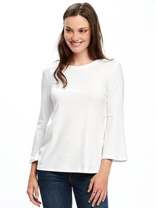 Semi-Fitted Bell-Sleeve Top for Women $22.94 thestylecure.com