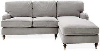 Robin Bruce Brooke Right-Facing Sectional - Gray Crypton