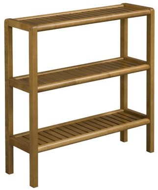 NewRidge Home Goods NewRidge Home Solid Wood Abingdon Console, Stand, Bookcase, Shoe Rack, 3 Tier