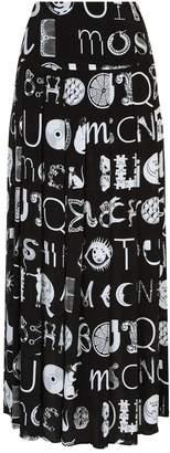 Moschino Abstract Logo Maxi Skirt