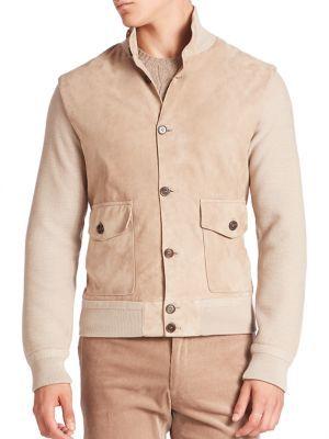 Ralph Lauren Purple LabelRalph Lauren Purple Label Wool & Leather Jacket