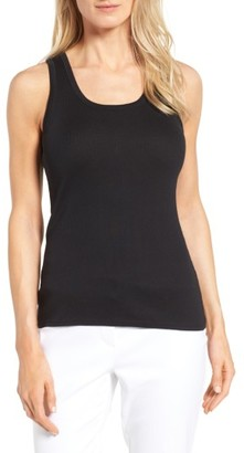 Women's Nordstrom Collection Pima Cotton Racerback Tank $69 thestylecure.com