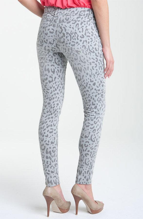 Wit & Wisdom Animal Print Skinny Stretch Jeans (Nordstrom Exclusive)