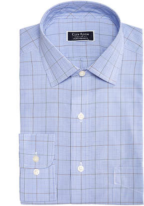 Club Room Men's Classic/Regular Fit Stretch Wrinkle-Resistant Small Glen Plaid Dress Shirt, Created for Macy's