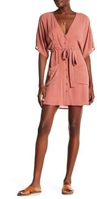 Wild Honey Short Sleeve V-Neck Dress