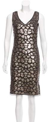 St. John Embellished Sheath Dress