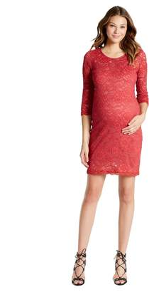 Jessica Simpson Motherhood Maternity Lace Body Con Maternity Dress