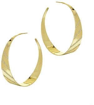 Lana Flawless Diagonal Diamond Hoop Earrings