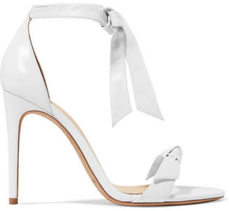 Alexandre Birman Clarita Bow-embellished Leather Sandals - White