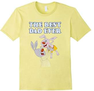 The best Dad Ever bunnies cartoon printed t-shirt