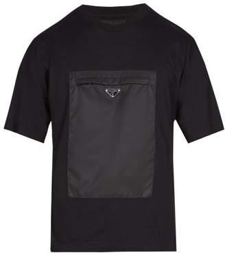 Prada Pocket Front Cotton T Shirt - Mens - Black