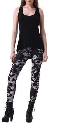 Xize 3D Digital Print Leggings Women Skinny Fitness Pants Sport Legging High Waist Workout Jeggings