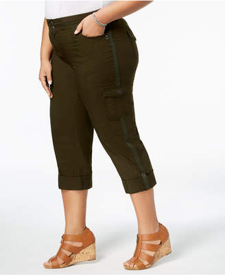 Style&Co. Style & Co Plus Size Convertible Cargo Pants, Created for Macy's