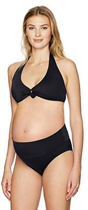 Prego Maternity Women's Maternity Roll Waist Bikini