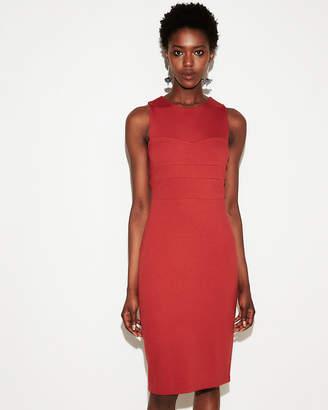 Express Seamed Sleeveless Sheath Dress