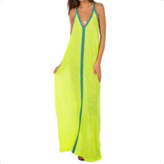 Pitusa Yellow With Turquoise Braid Inca Sundress - O/S - Yellow