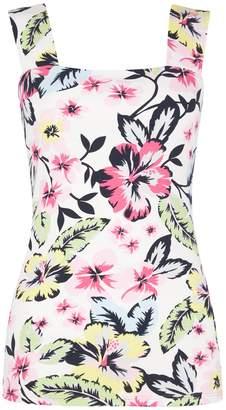 b37d5a792b61f Dorothy Perkins Womens Multi Colour Floral Print Square Neck Vest