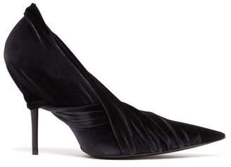 a59e681d98f0 Balenciaga Drape Velvet Wrap Pumps - Womens - Black