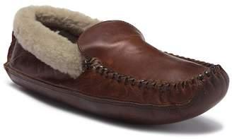 Frye Cabin Genuine Shearling & Leather Slipper