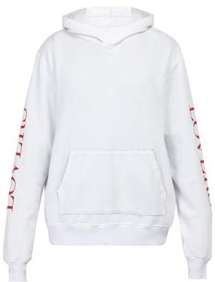 Amiri Heart Print Hooded Sweatshirt - Mens - White