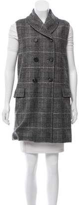 Yigal Azrouel Plaid Wool Vest