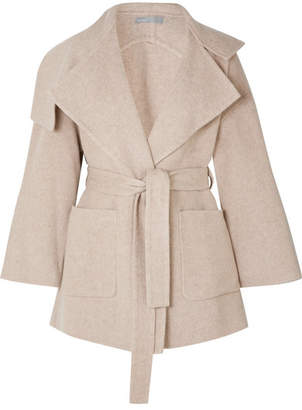 Vince Belted Wool-blend Coat - Beige