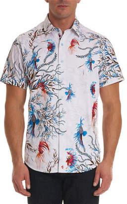 Robert Graham Deep Sea Short-Sleeve Sport Shirt