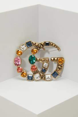 Gucci GG crystal brooch