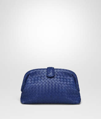 Bottega Veneta COBALT BLUE INTRECCIATO NAPPA TOP THE LAUREN 1980 CLUTCH
