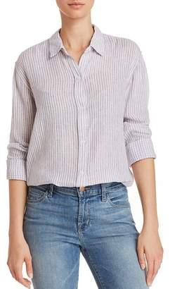 Rails Sydney Button-Back Metallic Striped Shirt