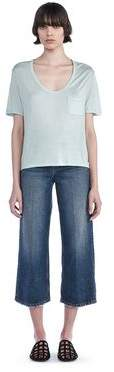 Alexander Wang Classic Cropped Tee With Pocket