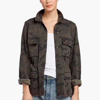 James Perse CAMO PRINT MILITARY JACKET