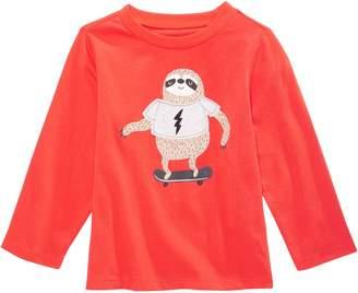 First Impressions Sloth-Print Cotton T-Shirt