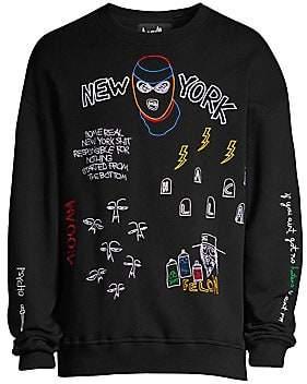Haculla Haculla Men's Nocturnal Embroidered Crewneck Sweatshirt