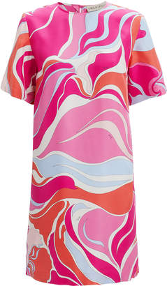 Emilio Pucci Printed T-Shirt Mini Dress