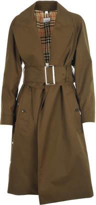 Burberry Cotton Gabardine Belted Coat