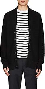 Barneys New York Men's Cotton-Blend Shawl Cardigan-Black