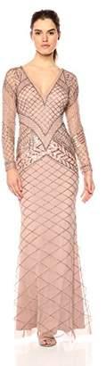Adrianna Papell Women's Fully Beaded Long Dress