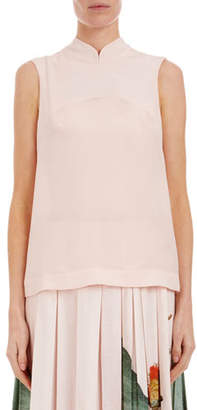 Simone Rocha Sleeveless Mandarin-Collar Easy Top
