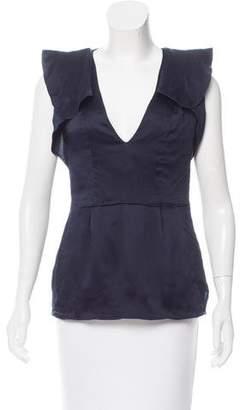 CNC Costume National Sleeveless Silk Top