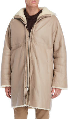 Jil Sander Light Beige Shearling Jacket