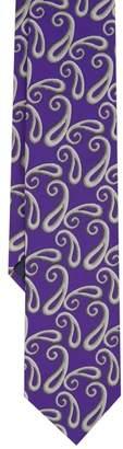 Duchamp London LONDON Purple Shaded Paisley Silk Tie